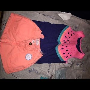 Carters Matching Set Size 5T (NEW)